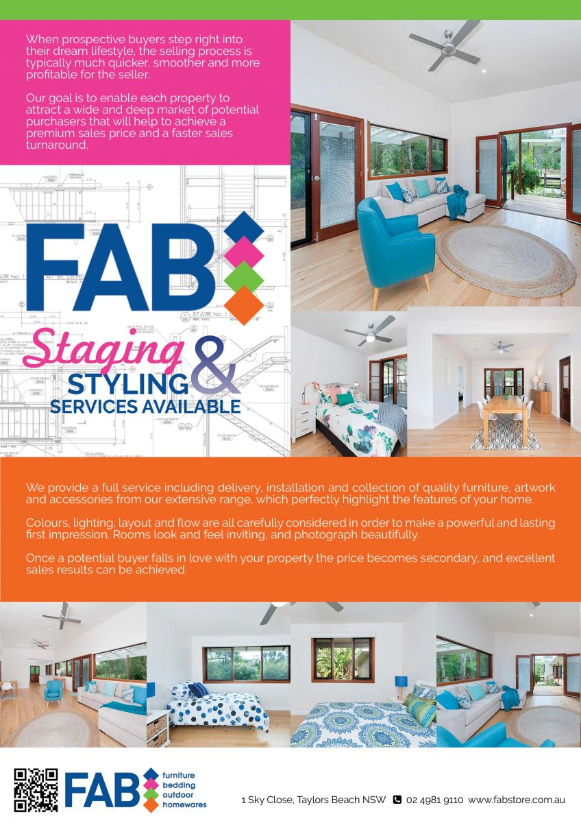 FAB Interior Styling & Staging Services Available