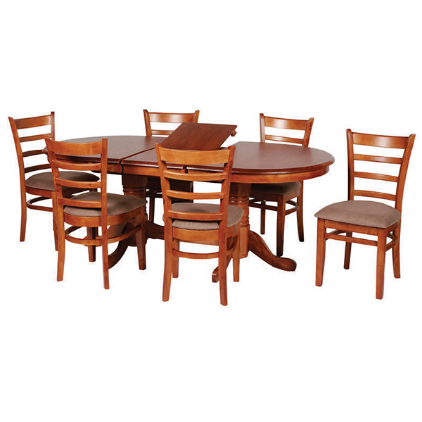 Lotus Collection 7 Pce Round Dining Extension Dining Suite